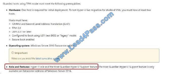 lead4pass 70-744 exam question q9